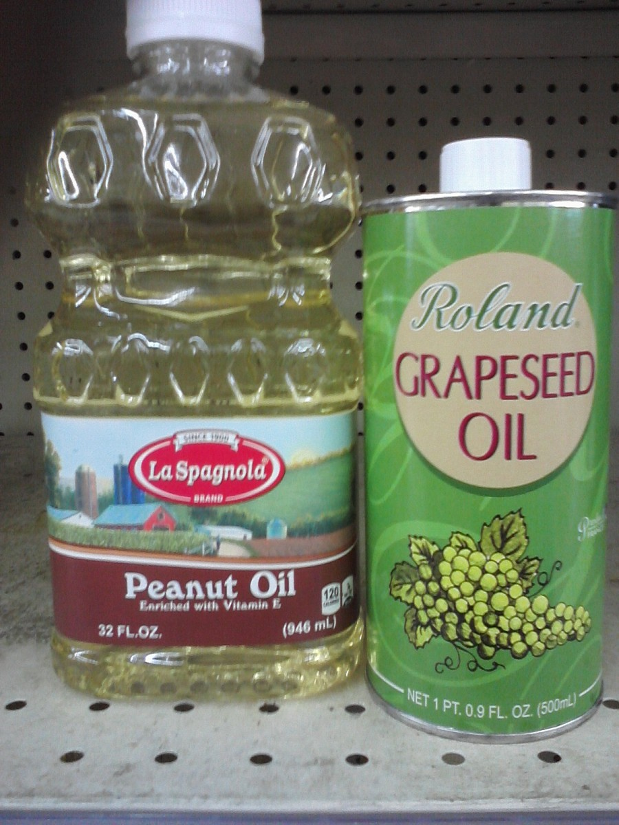 Grapeseed (Cooking) Oil & Peanut (Cooking) Oil
