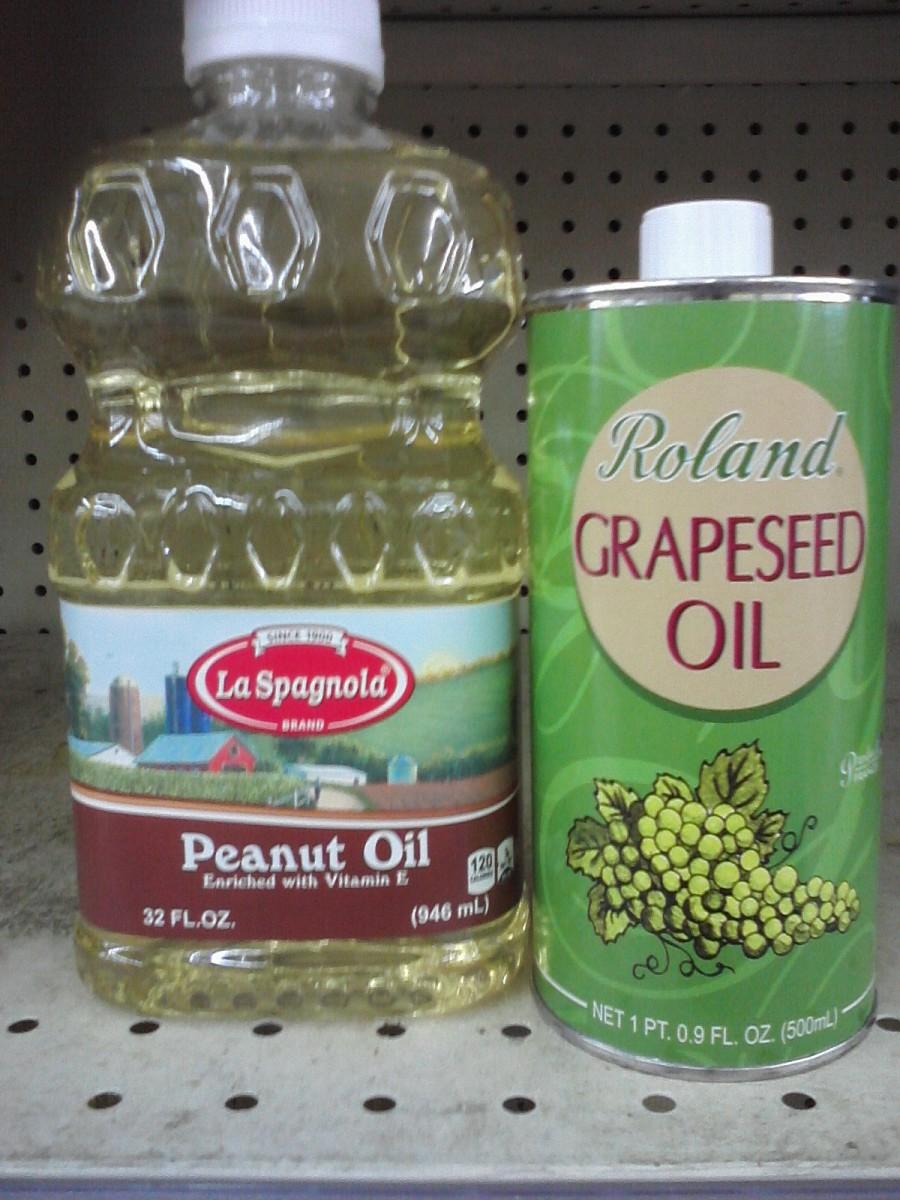 Grapeseed vs. peanut oil.