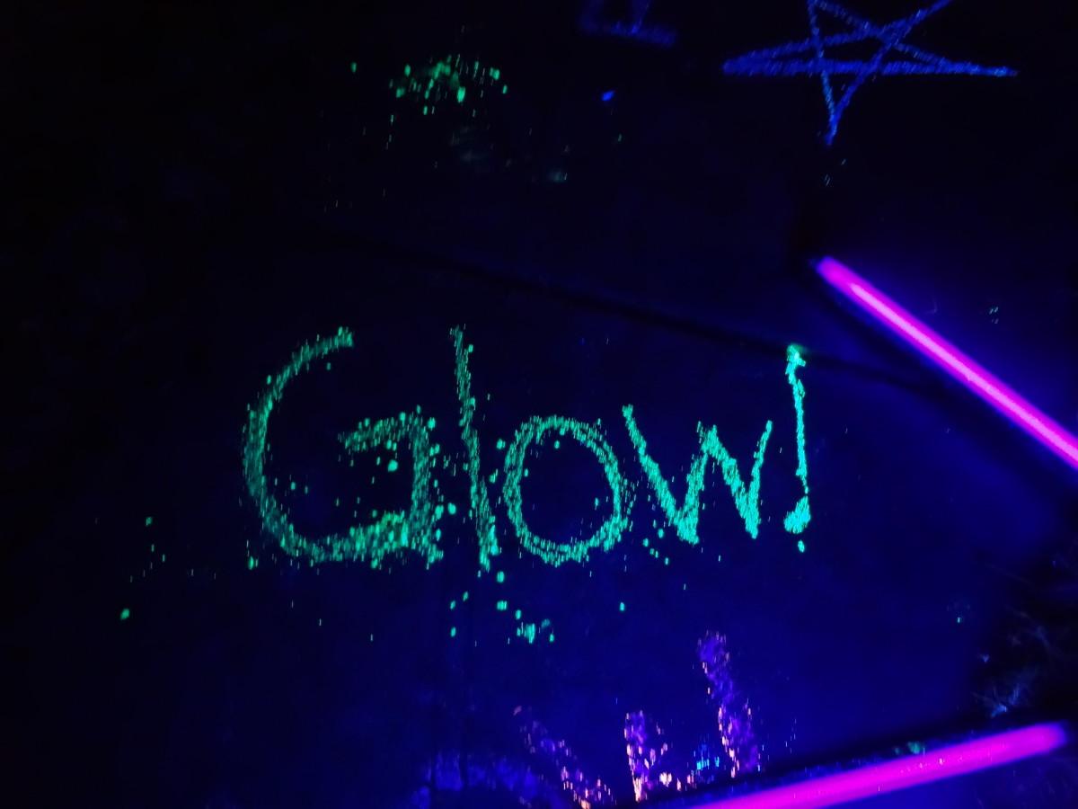 Glowing Crayola chalk
