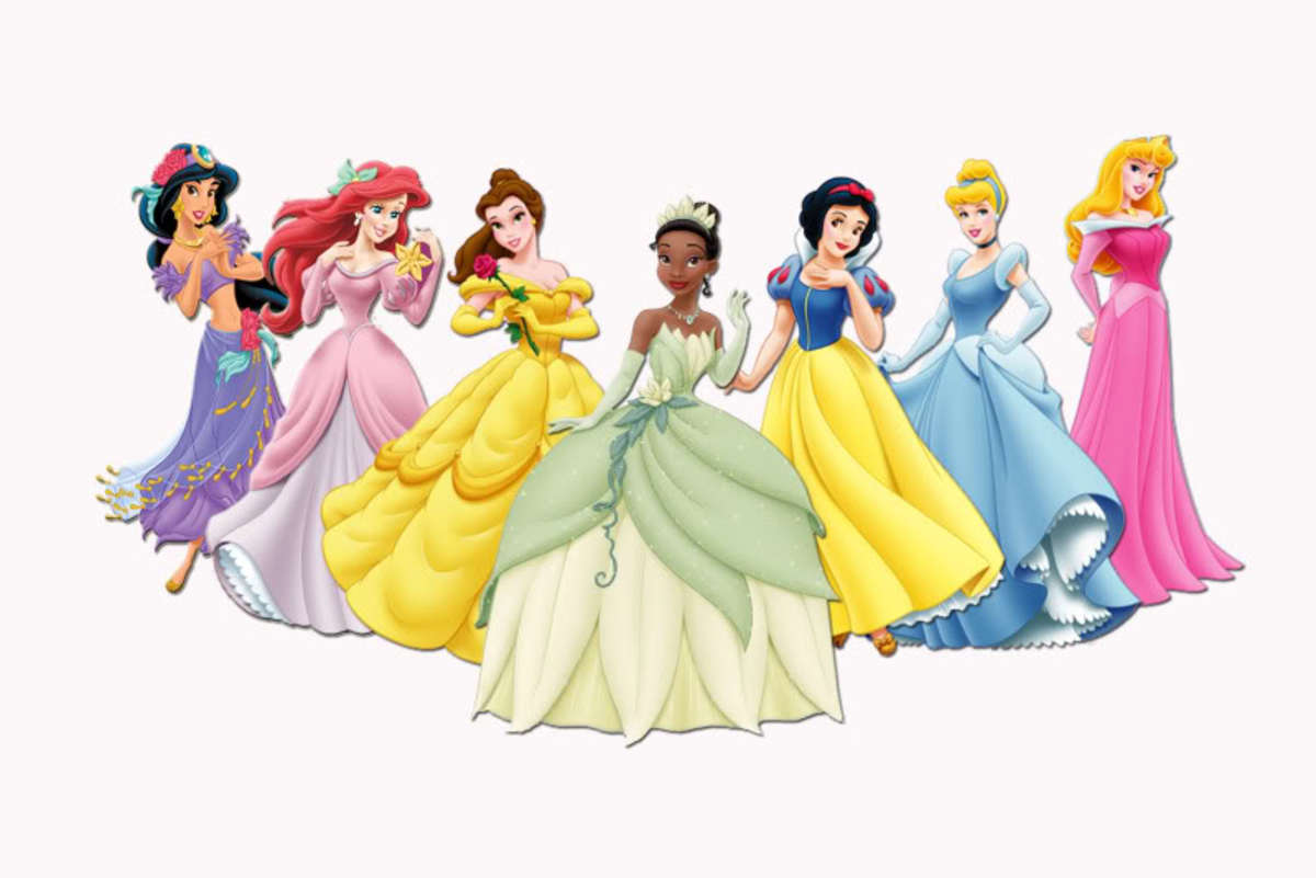 The Official Disney Princess Lineup.