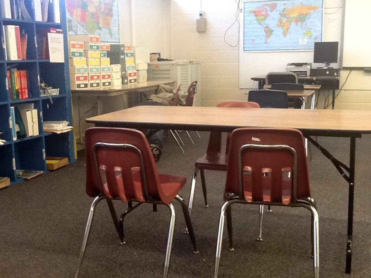 What does your physical classroom arrangement plan say about your teaching style? And can you spot the discipline problem in this photo?