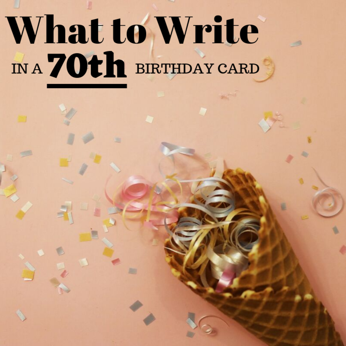 70 is a major milestone! Wish them well with a funny and heartfelt birthday card message.