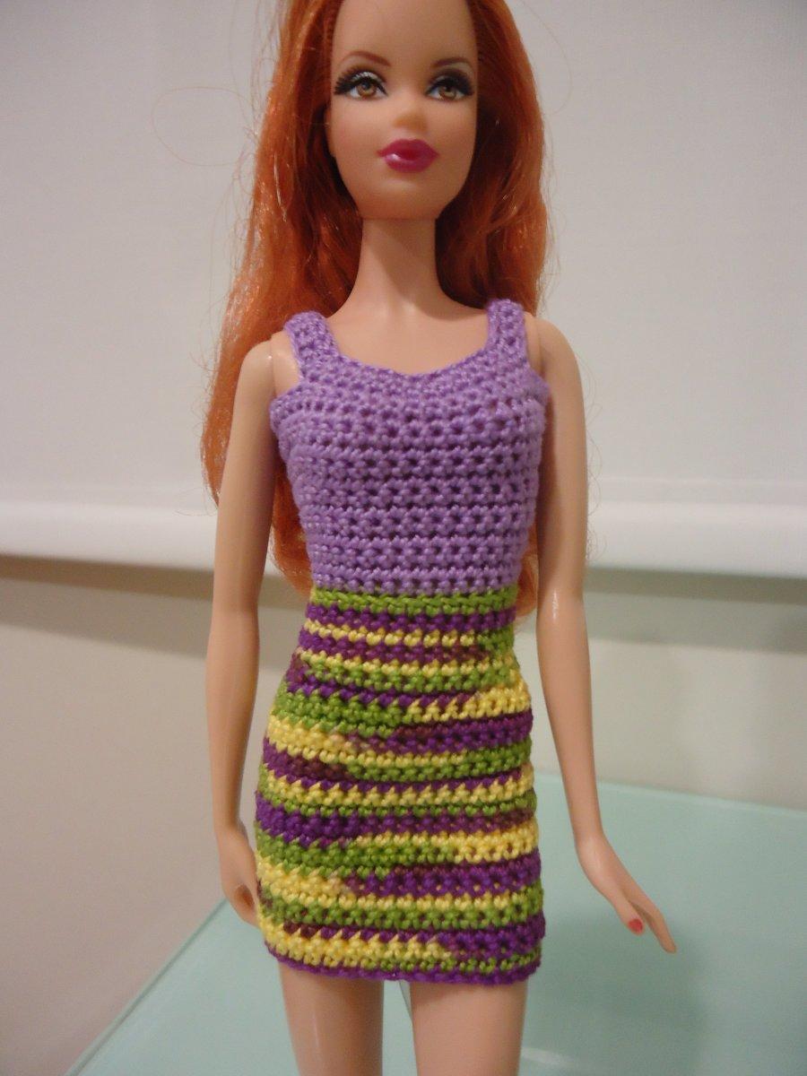 Barbie Simple Sheath Dress Free Crochet Pattern Feltmagnet