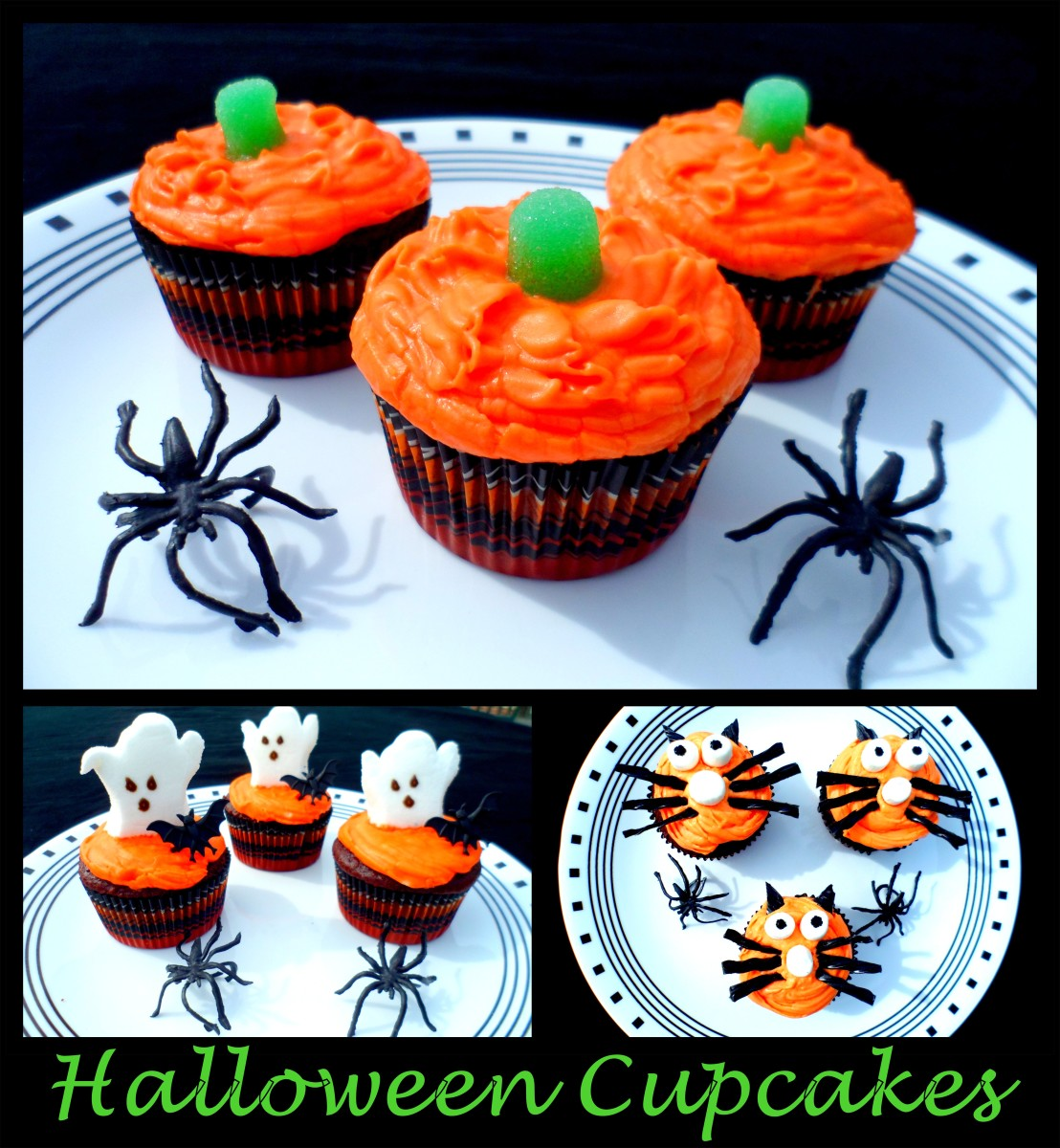 Halloween fun halloween cupcakes cupcake decorating ideas for Fun and easy cupcake decorating ideas