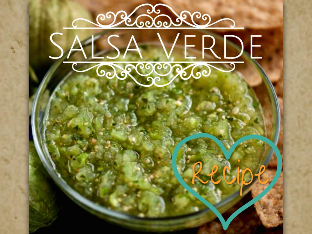 Authentic Mexican salsa verde contains tomatillos, cilantro, onion, garlic, chile serrano, and lime
