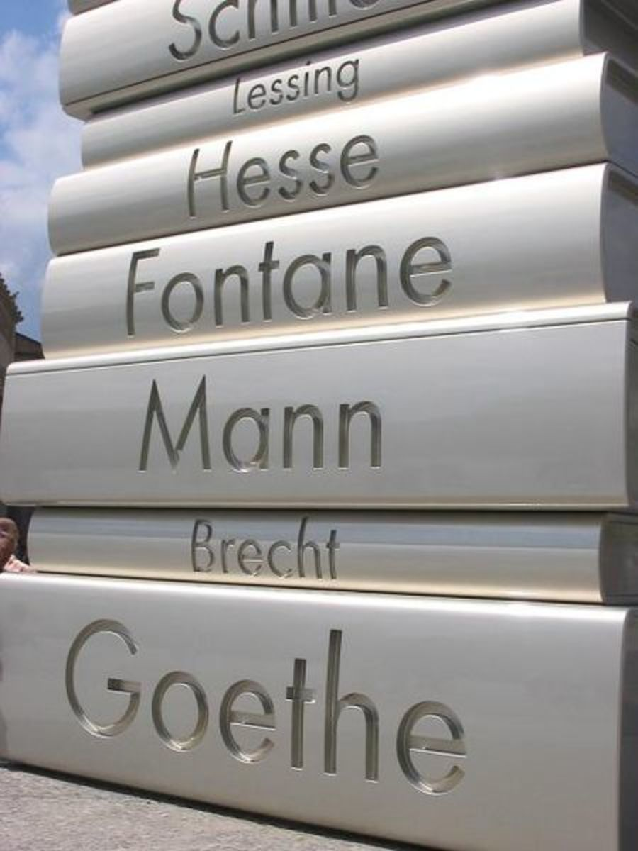 """Modern Book Printing"" (detail), fourth sculpture (from six) of the Berlin Walk of Ideas"