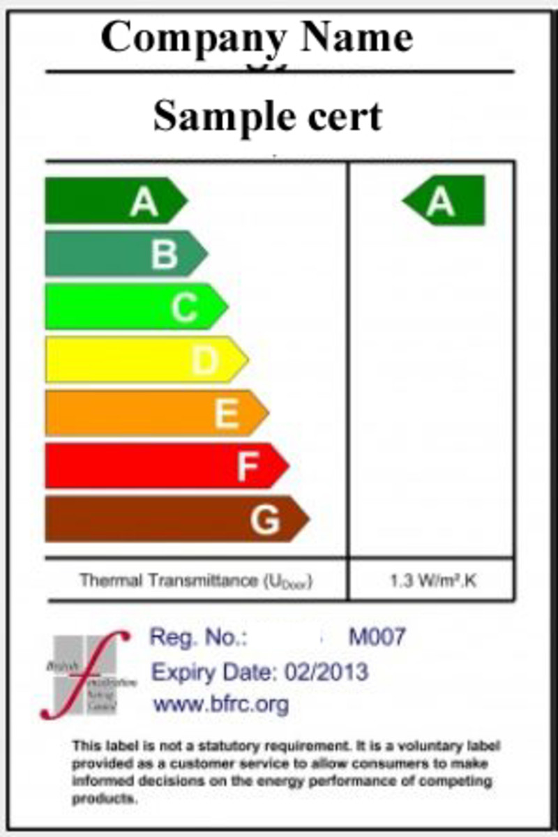 Sample pvc window cert