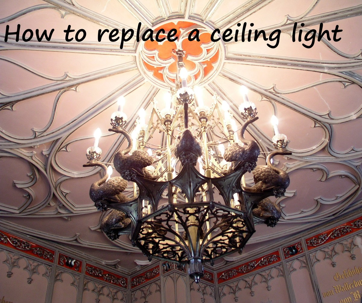 How To Replace A Ceiling Light Fixture Dengarden Fluorescent Diagram Doing It Yourself