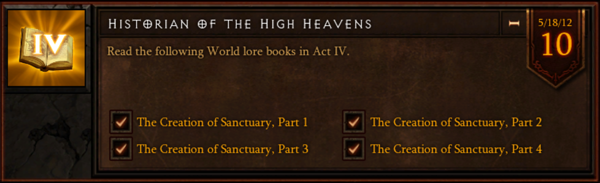 Historian of the High Heavens - Act IV World Lore Book Location Guide - Diablo 3