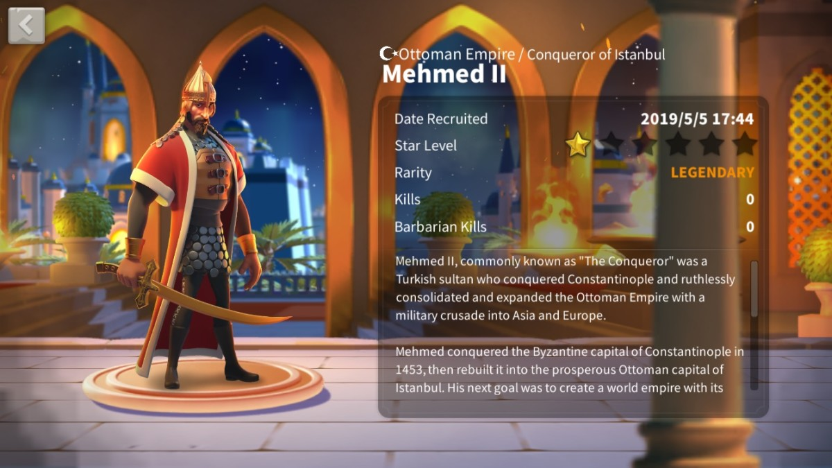 Mehmed II Profile Page
