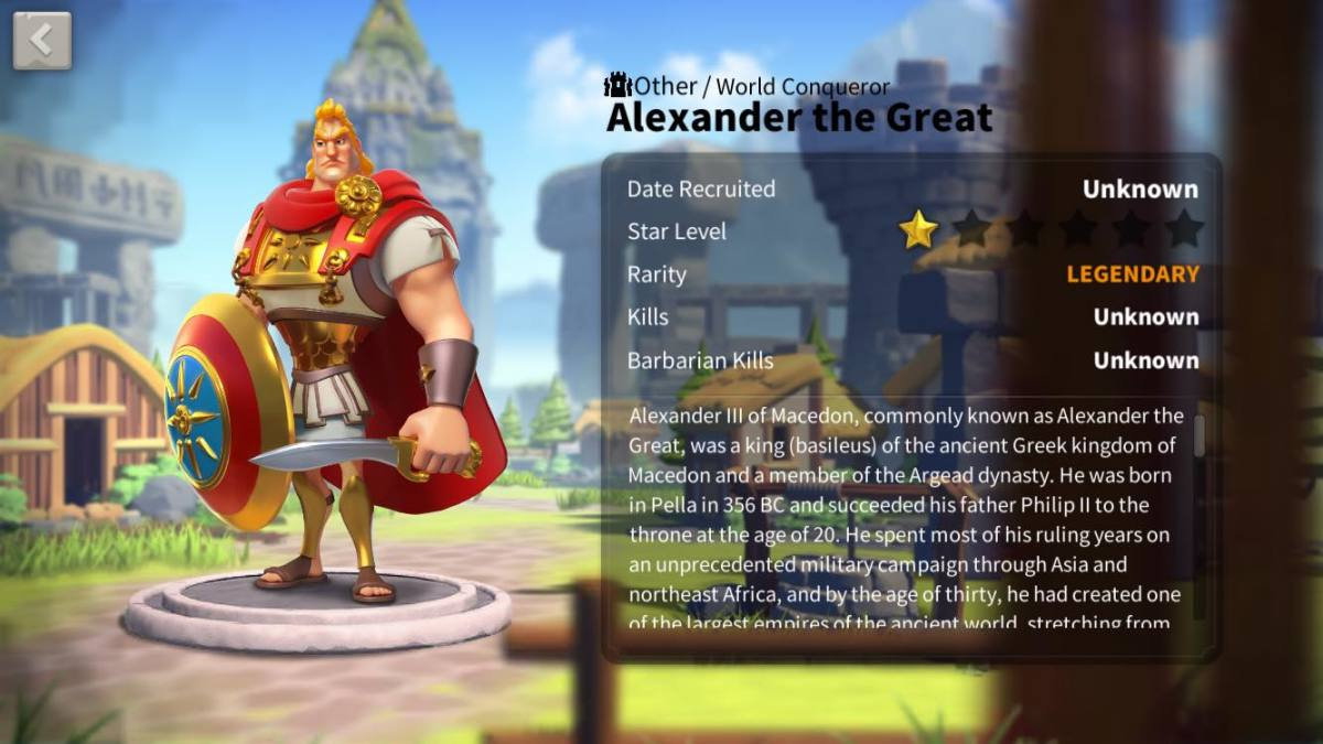 Alexander the Great Profile Page