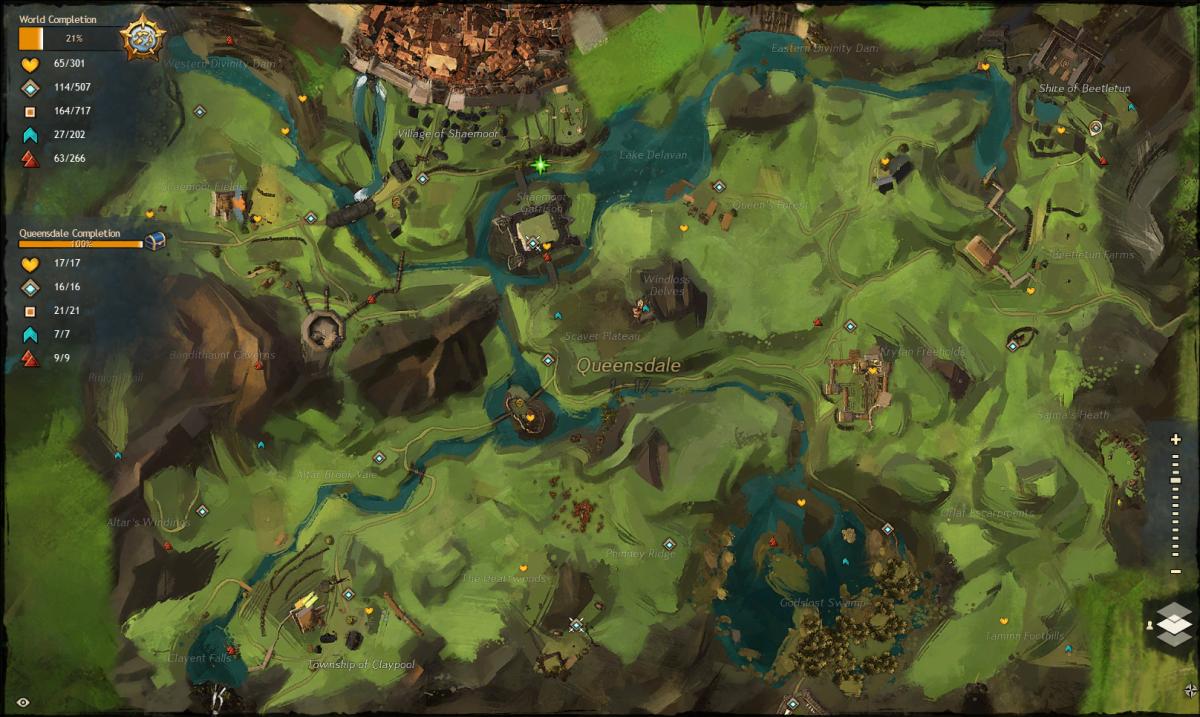 """""""Guild Wars 2"""" Vista Location Guide: Queensdale"""