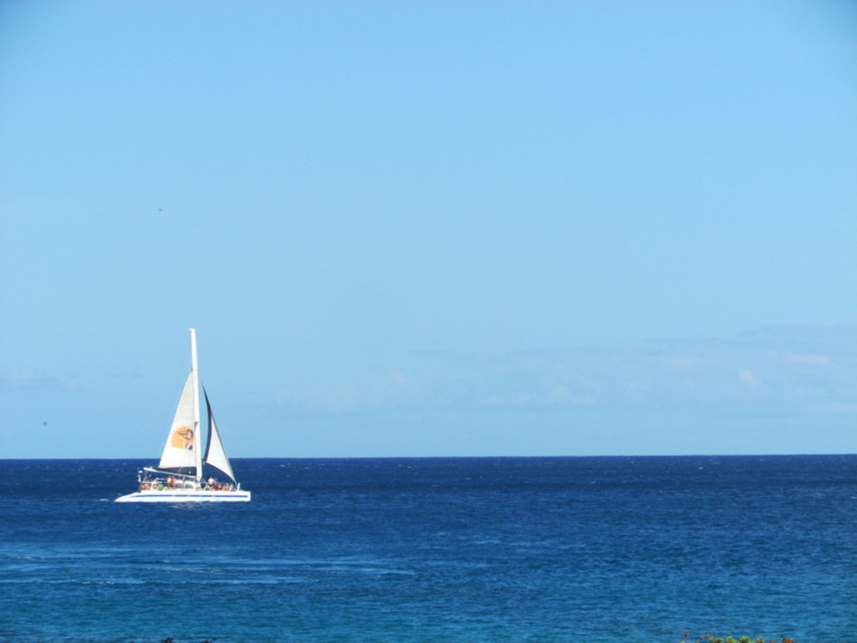 Sailboat off Electric Beach, Oahu