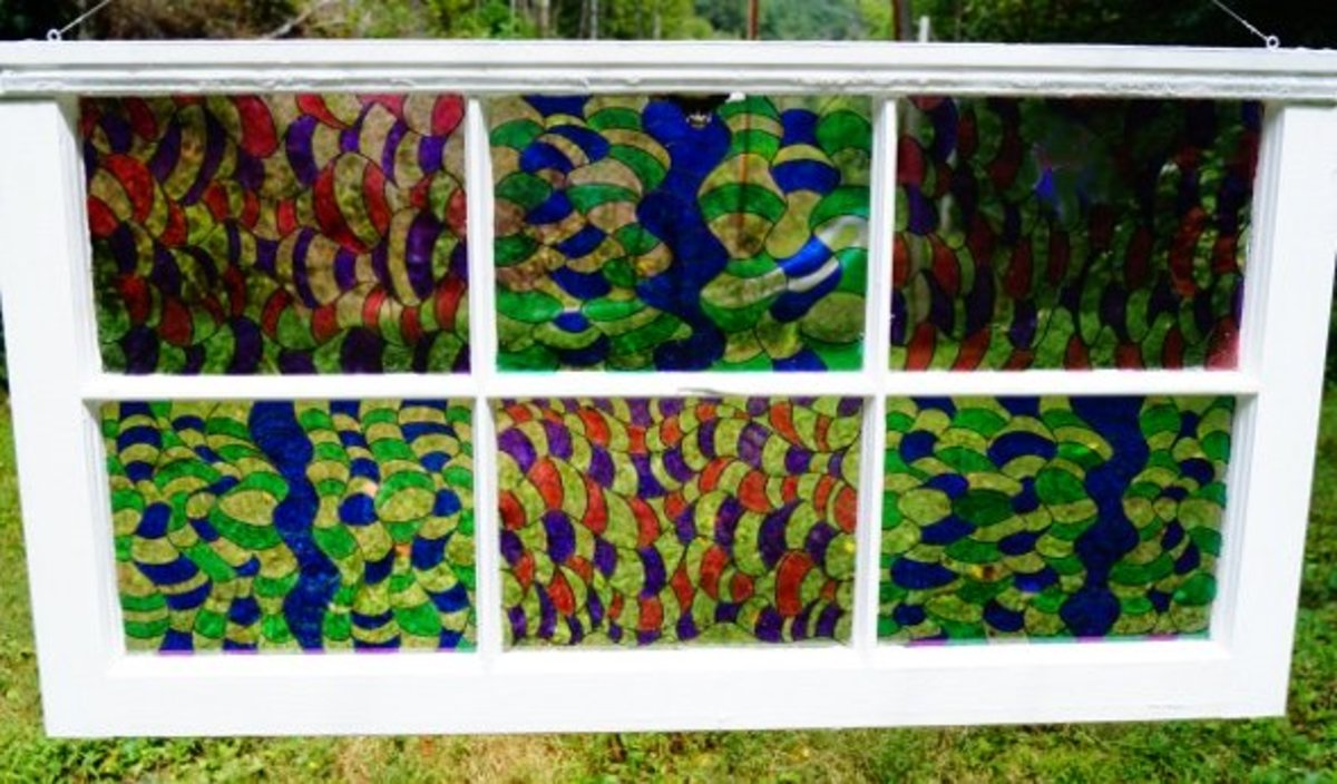 "Sharpie Art - How to Make a ""Stained Glass"" Window"