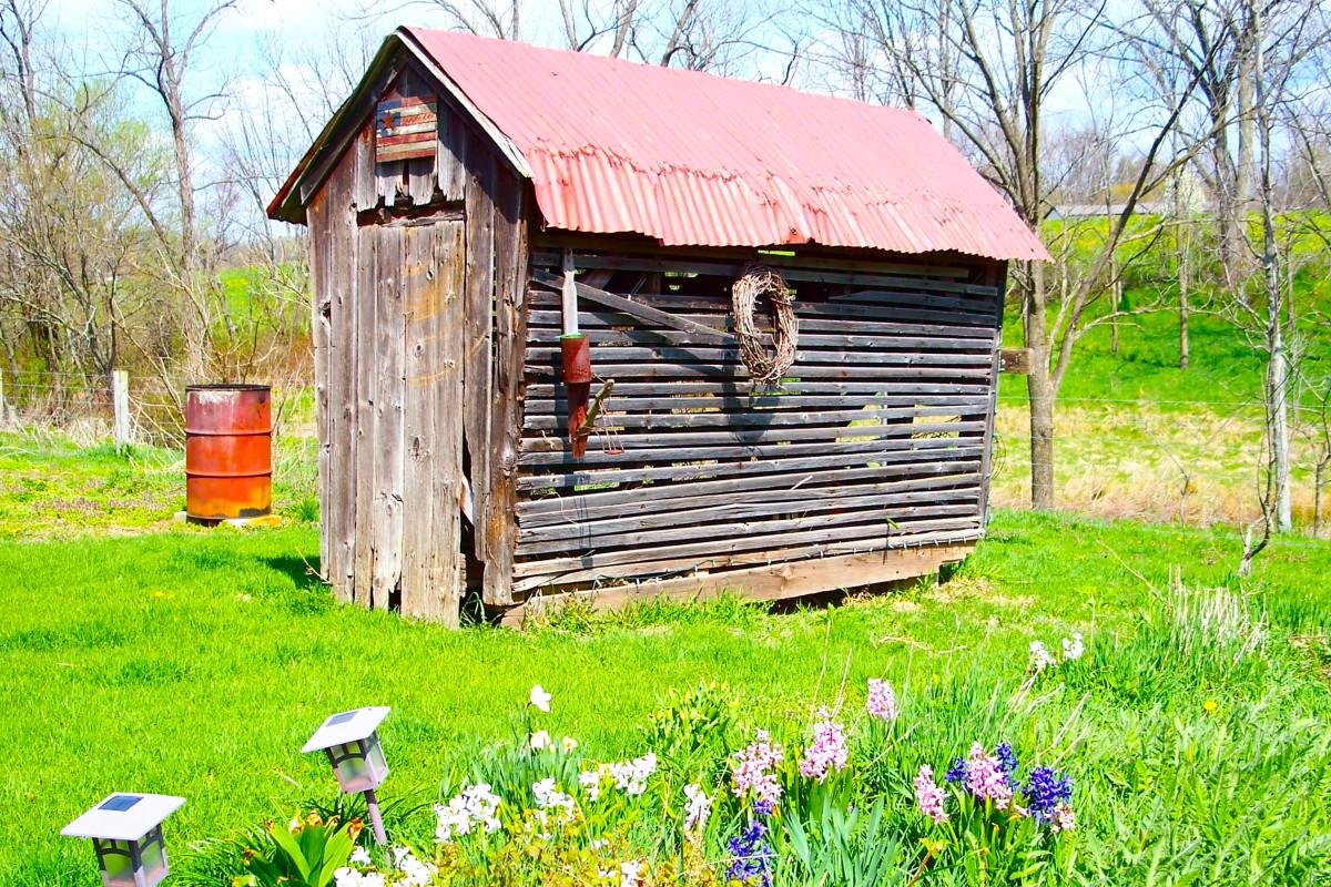 What Southernisms are spoken out behind the corn crib?