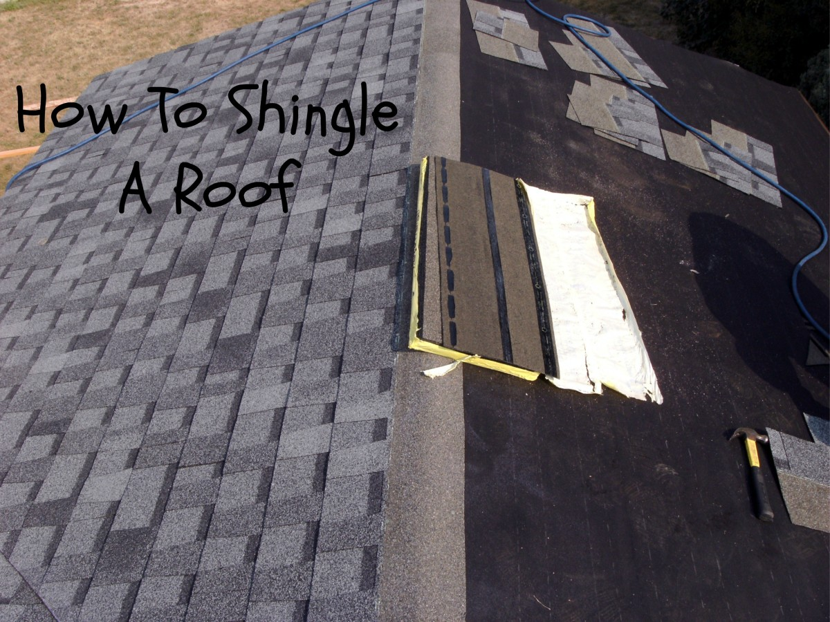 How to shingle a roof laying asphalt shingles - Put bitumen shingles roof cover ...