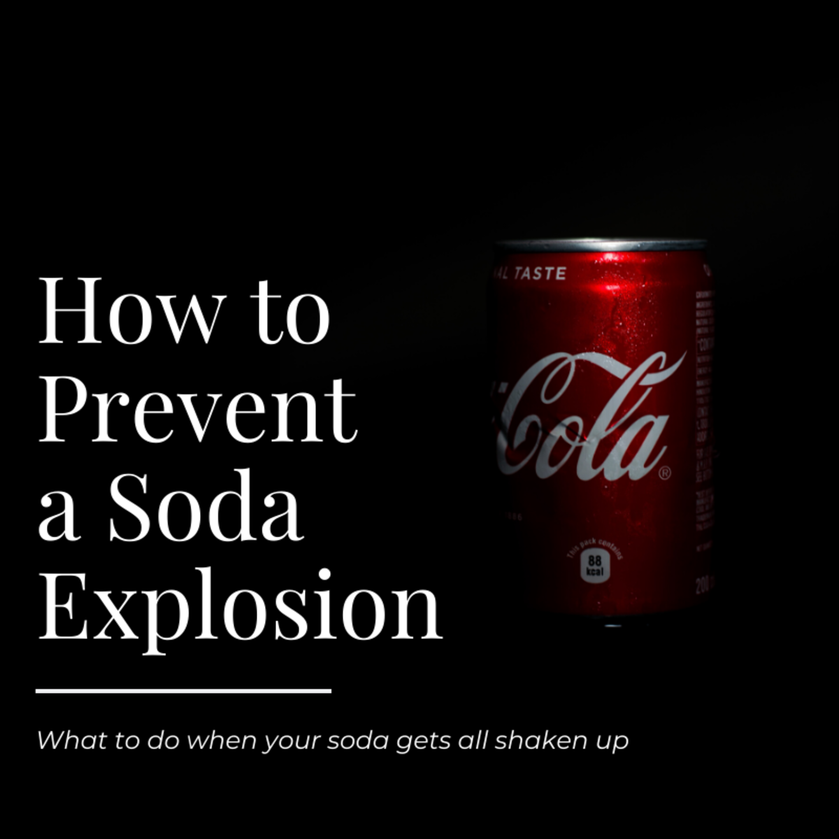 This article will provide some tips about what to do if your soda can or bottle gets all shaken up and you want to drink it without the contents exploding all over the place.