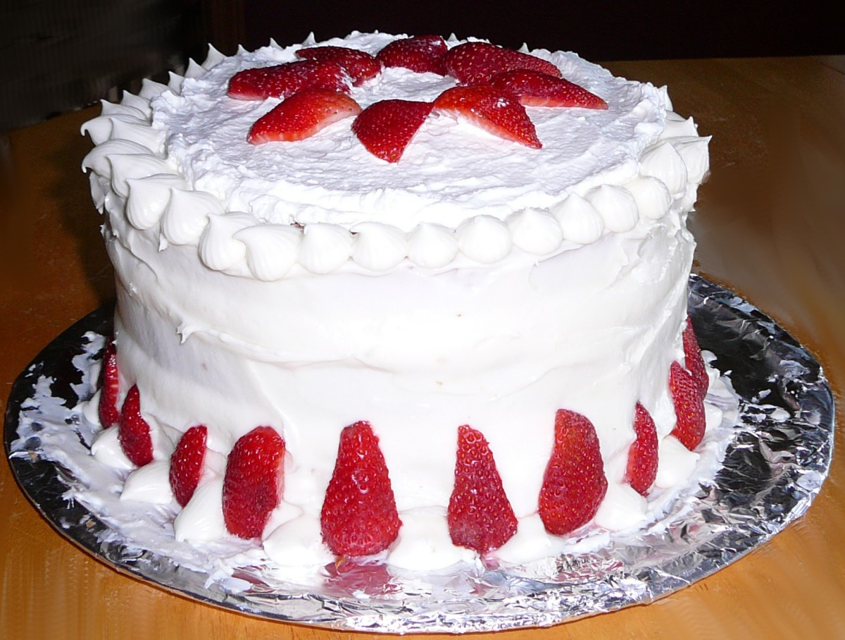 Strawberry Cake Recipe Using Fresh Strawberries