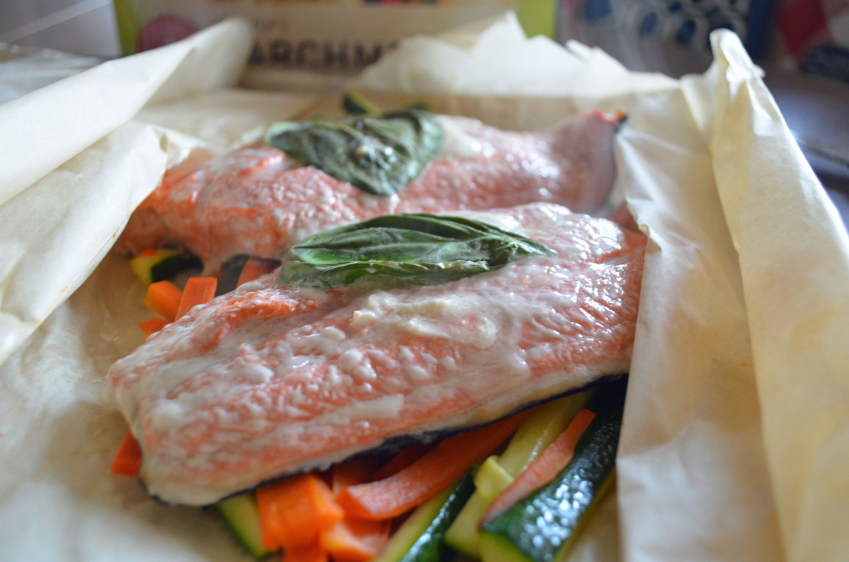 Parchment bags make cleanup a snap and keeps the salmon perfectly moist and tender.