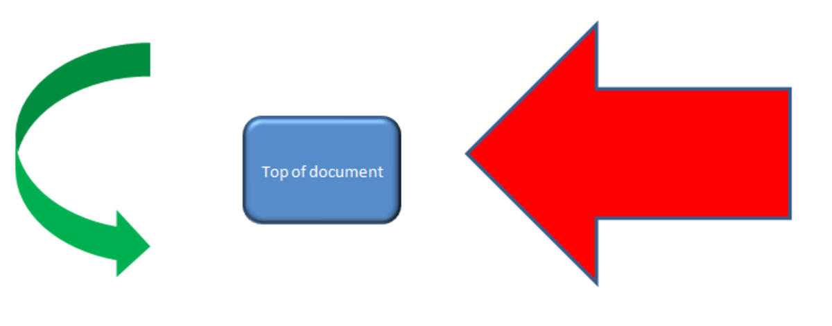 Examples of Shapes in Excel 2007.