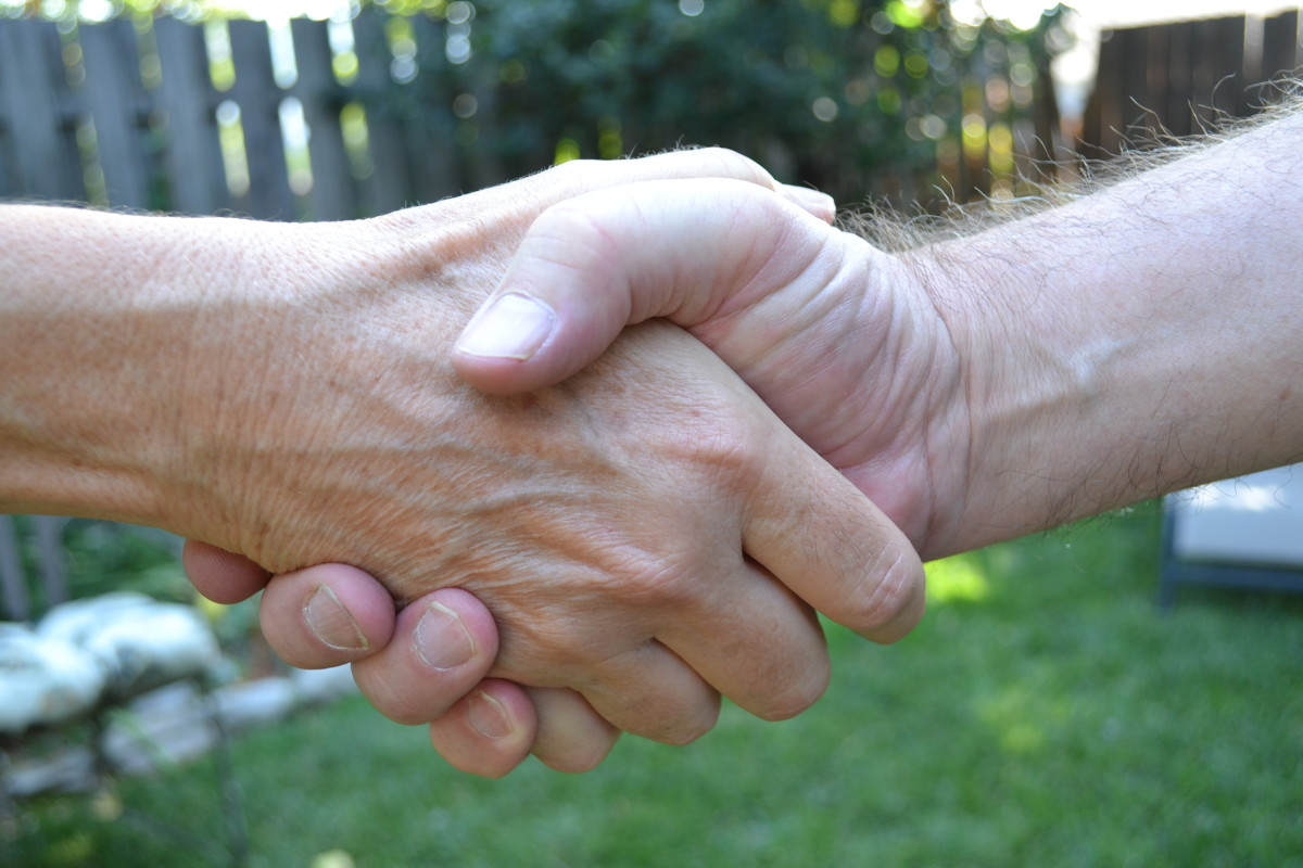 The handshake is still a valuable part of an interpersonal business relationship.