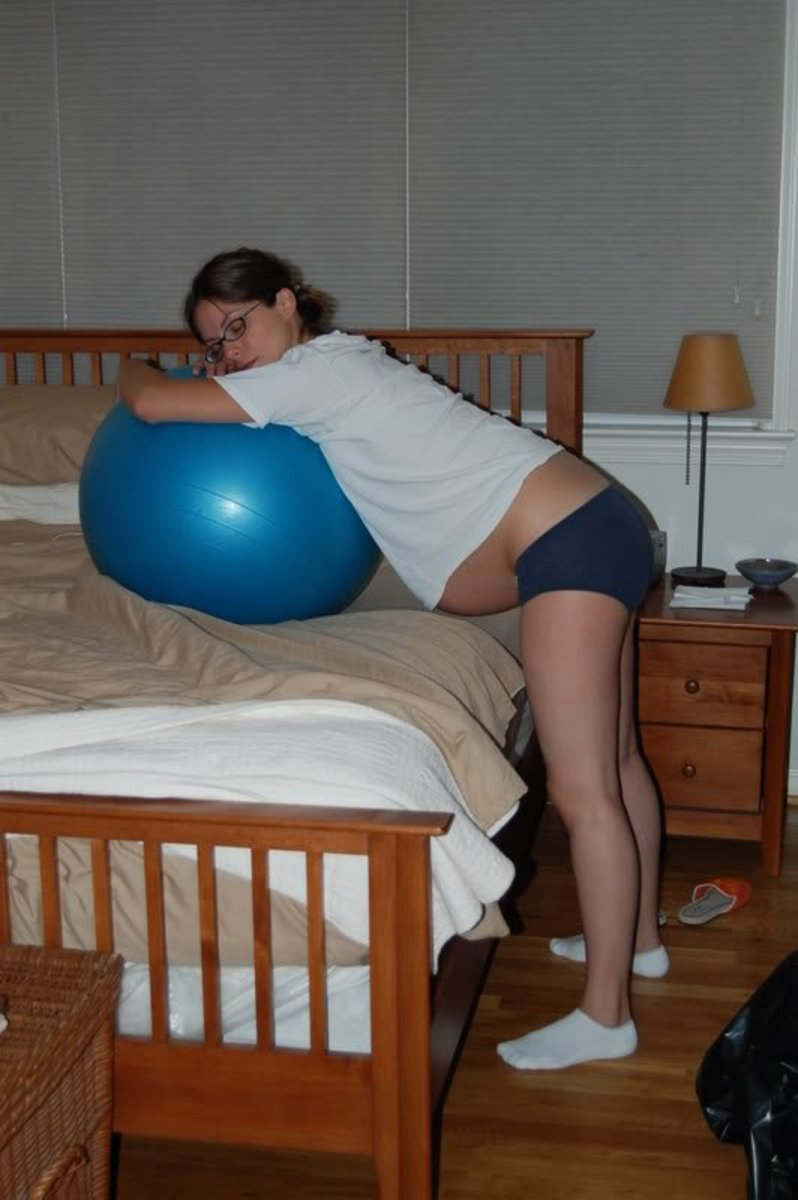 One of the many ways you can use a Birth Ball in Labour