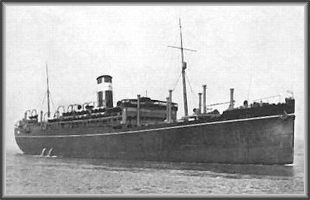 WWII: HMT (Hired Military Transport) Rohna. Prior to 1939.