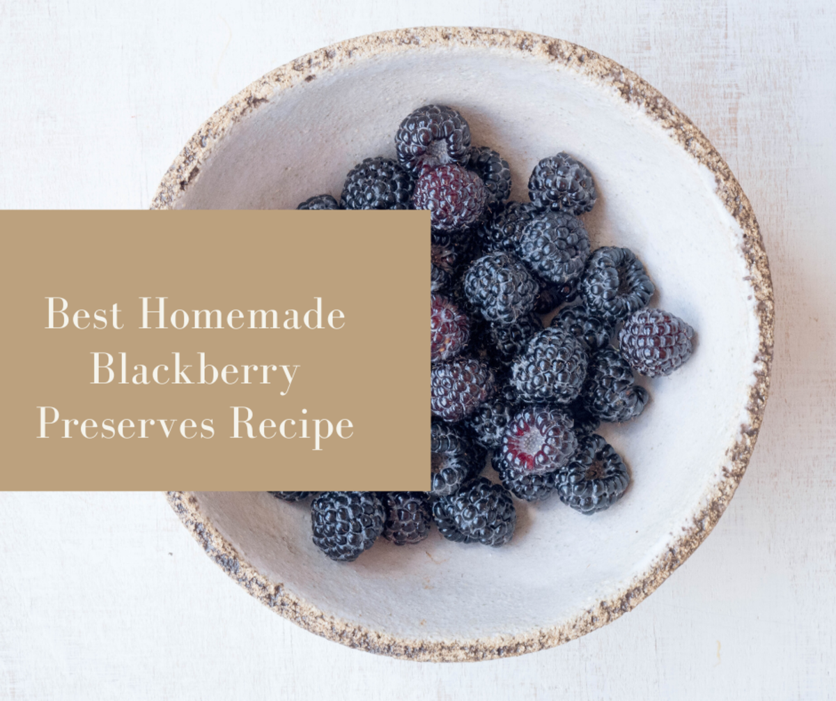 This delicious homemade blackberry preserves recipe is definitely worth the effort to make.