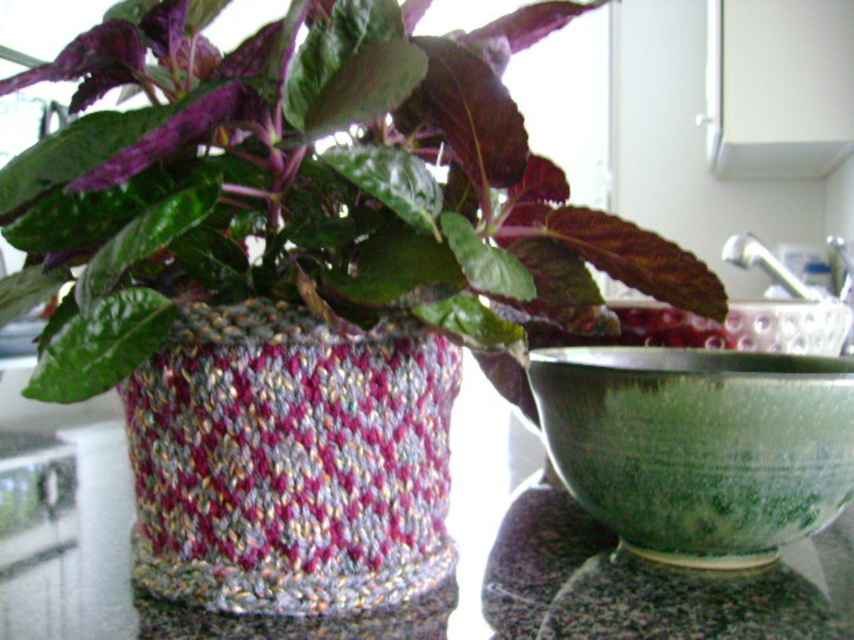 Knitted Pinwheel Basket Pattern