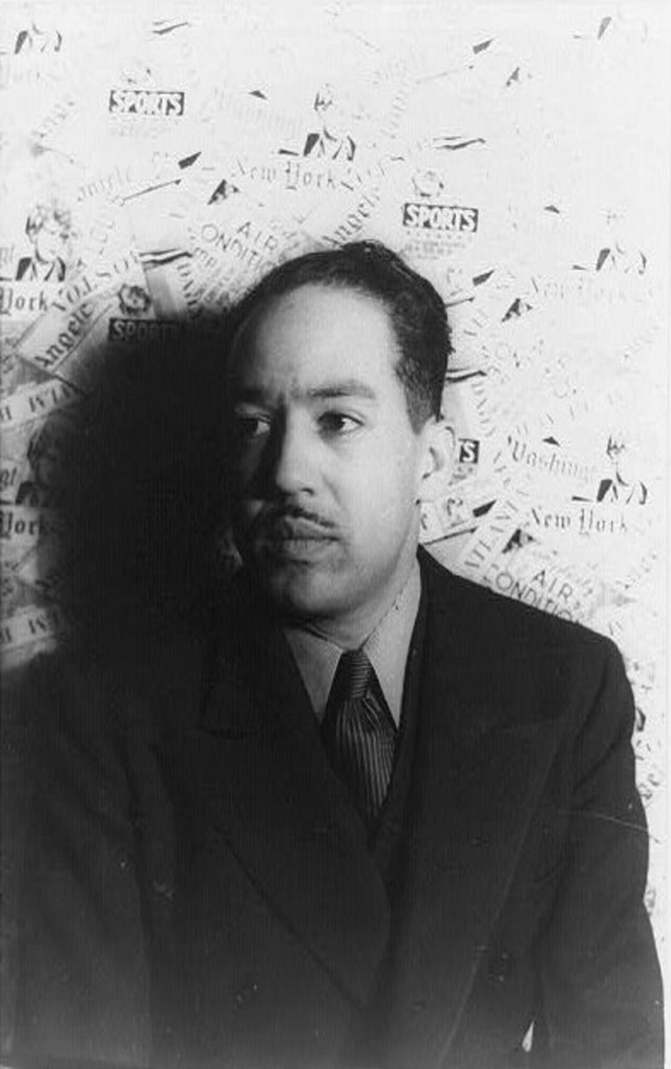 "Langston Hughes, the author of ""Theme for English B"""