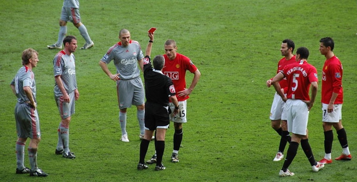Referees brandish about 50 red cards every Premier League season.