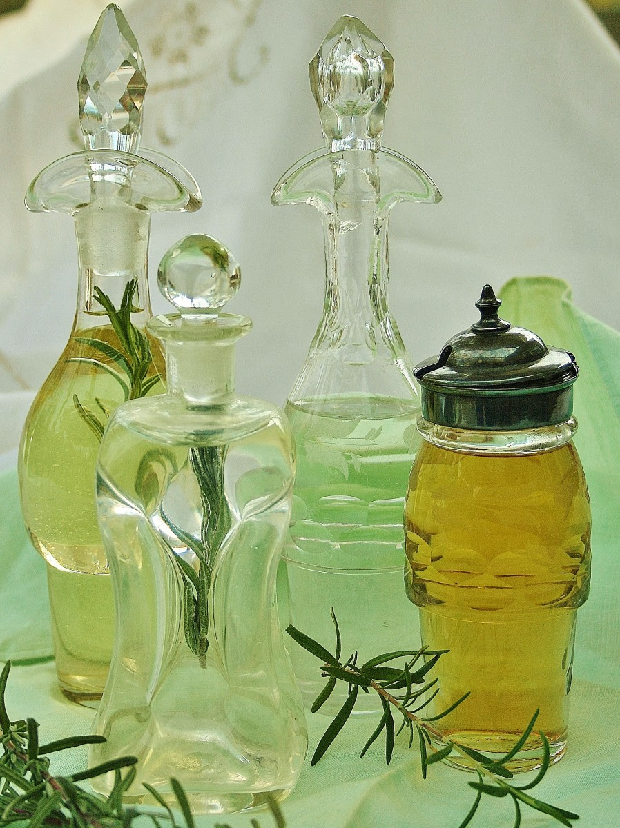 For easy one-of-a-kind gifts, store herb-infused oils, vinegars, astringents & liquid soaps in pretty bottles from the flea market or local junk shop.