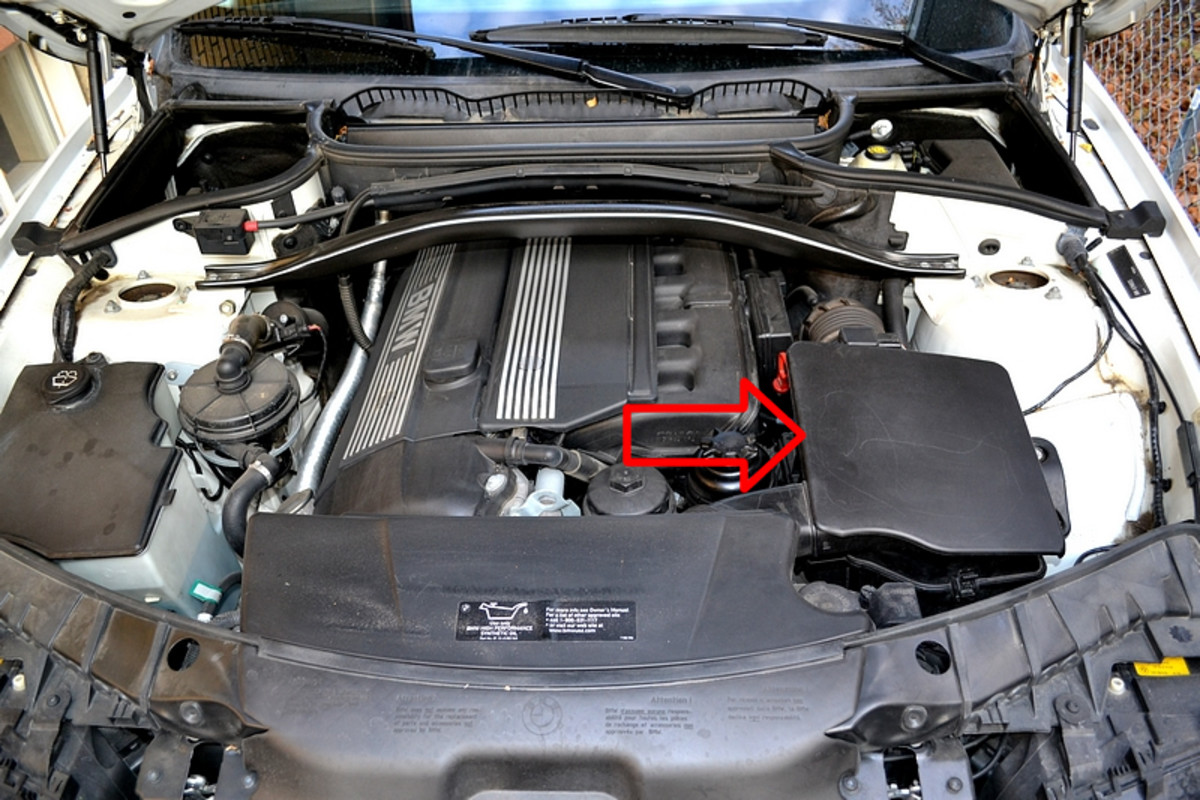 The location of the air filter box on a 2006 X3.