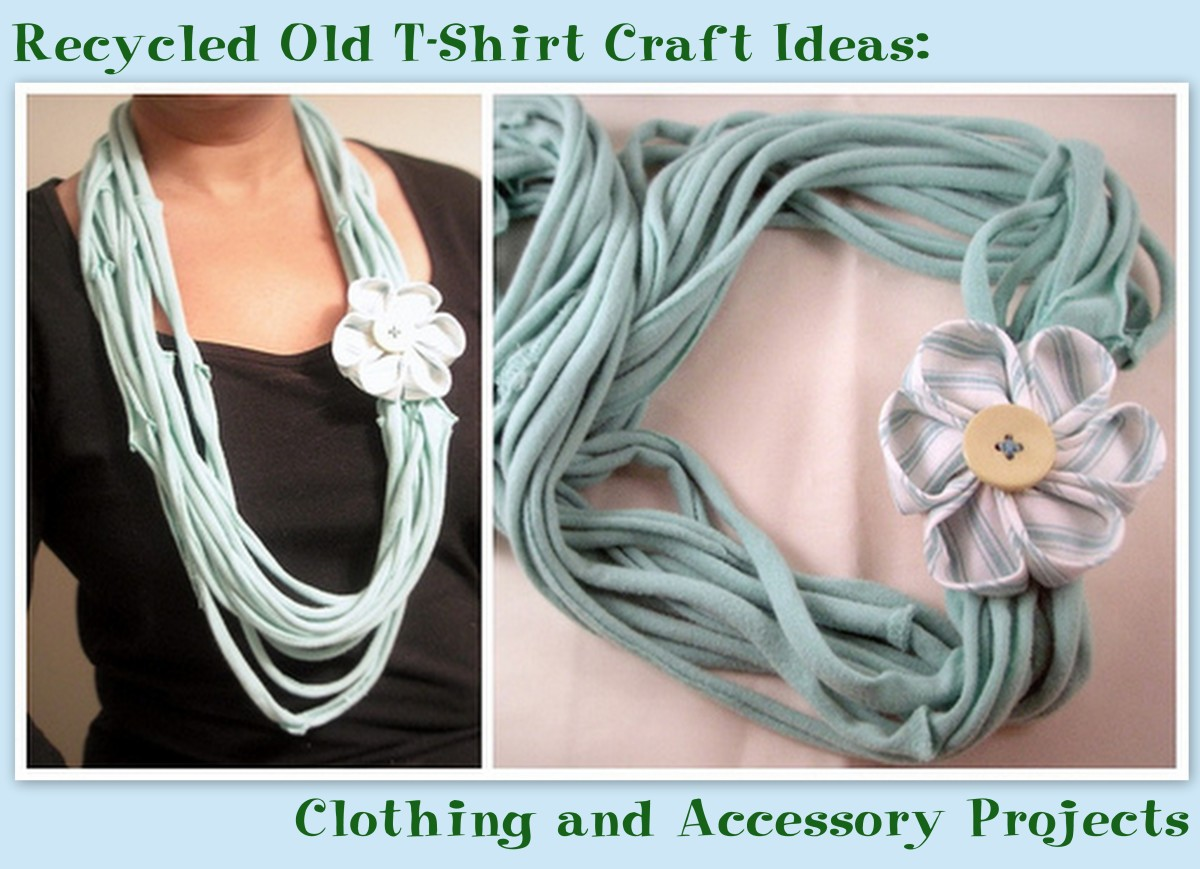 Infinity scarves are a popular recycled t-shirt project choice.