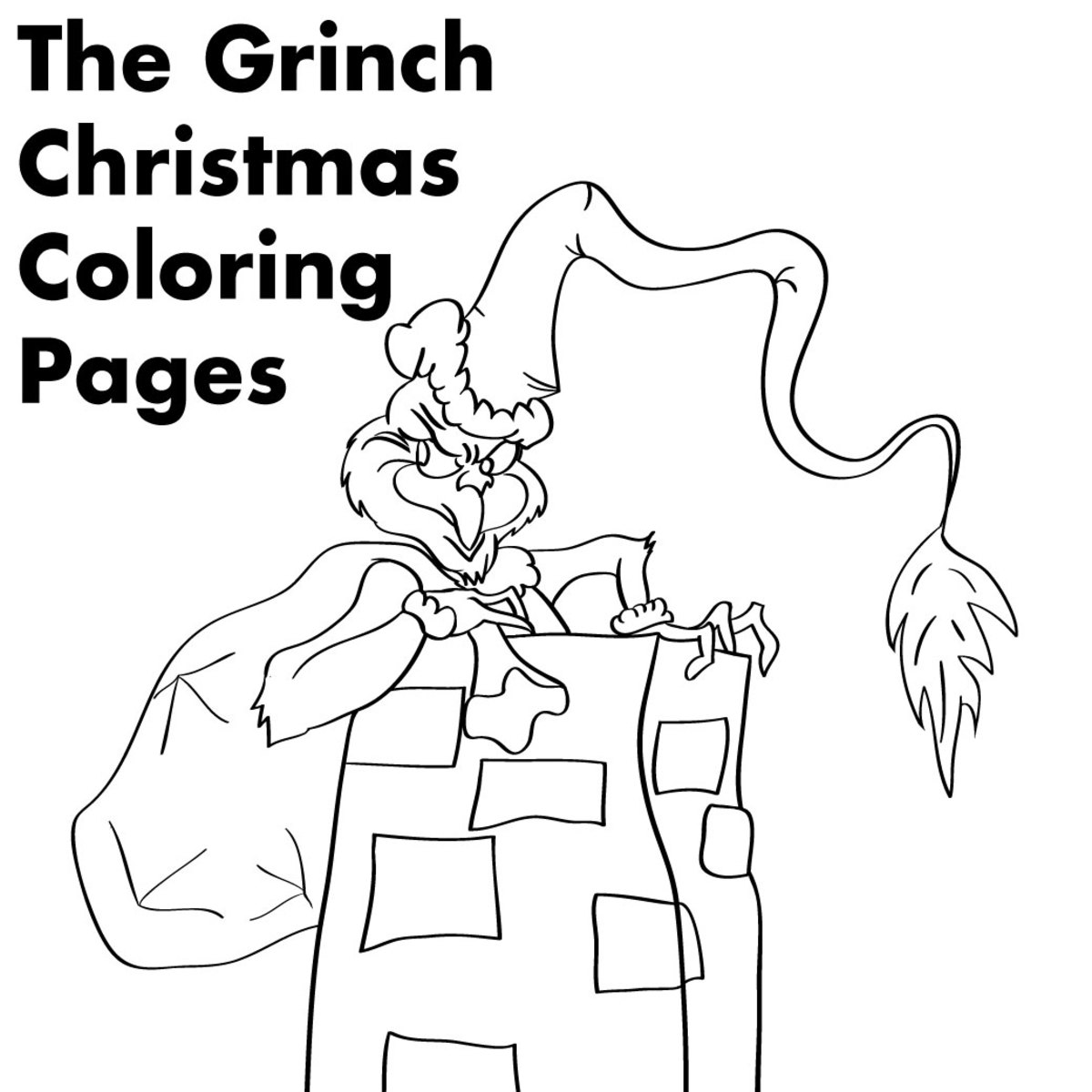 "Coloring pages for ""The Grinch Who Stole Christmas"""