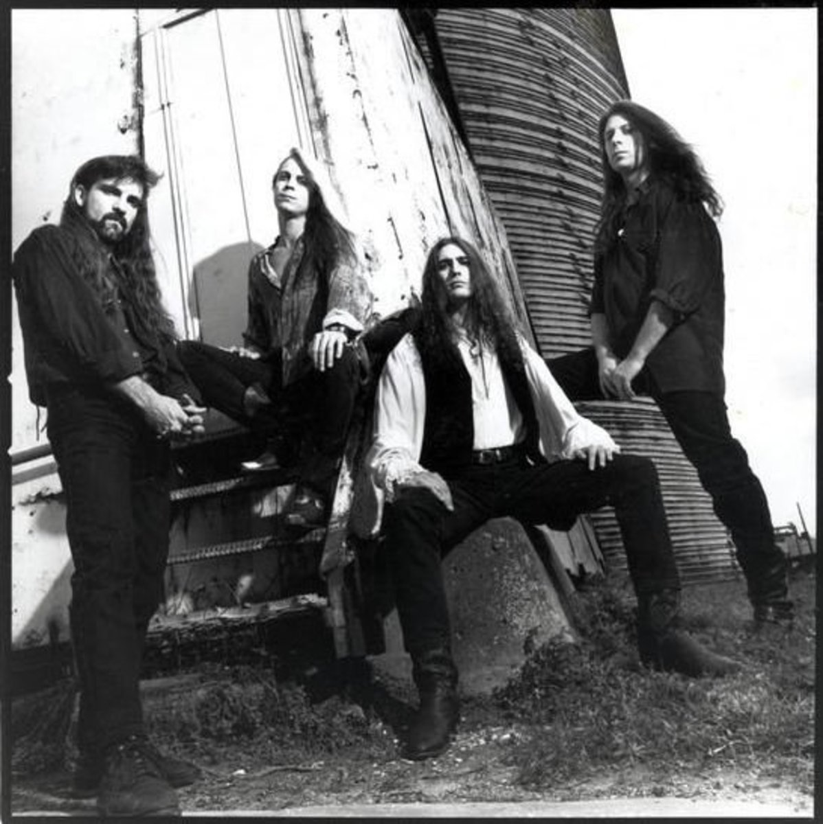 "Savatage 1993 L-R: Steve ""Doc Killdrums"" Wacholz, Johnny Lee Middleton, Zak Stevens, Criss Oliva"