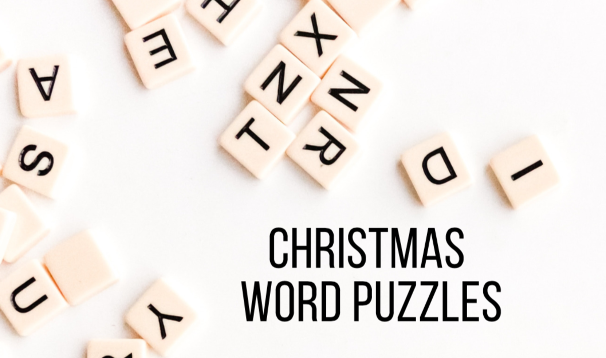 These Christmas word puzzles are great to play with kids or adults!