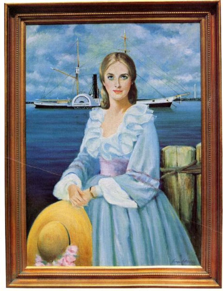 Portrait on display in Coast Guard Museum at Coast Guard Academy