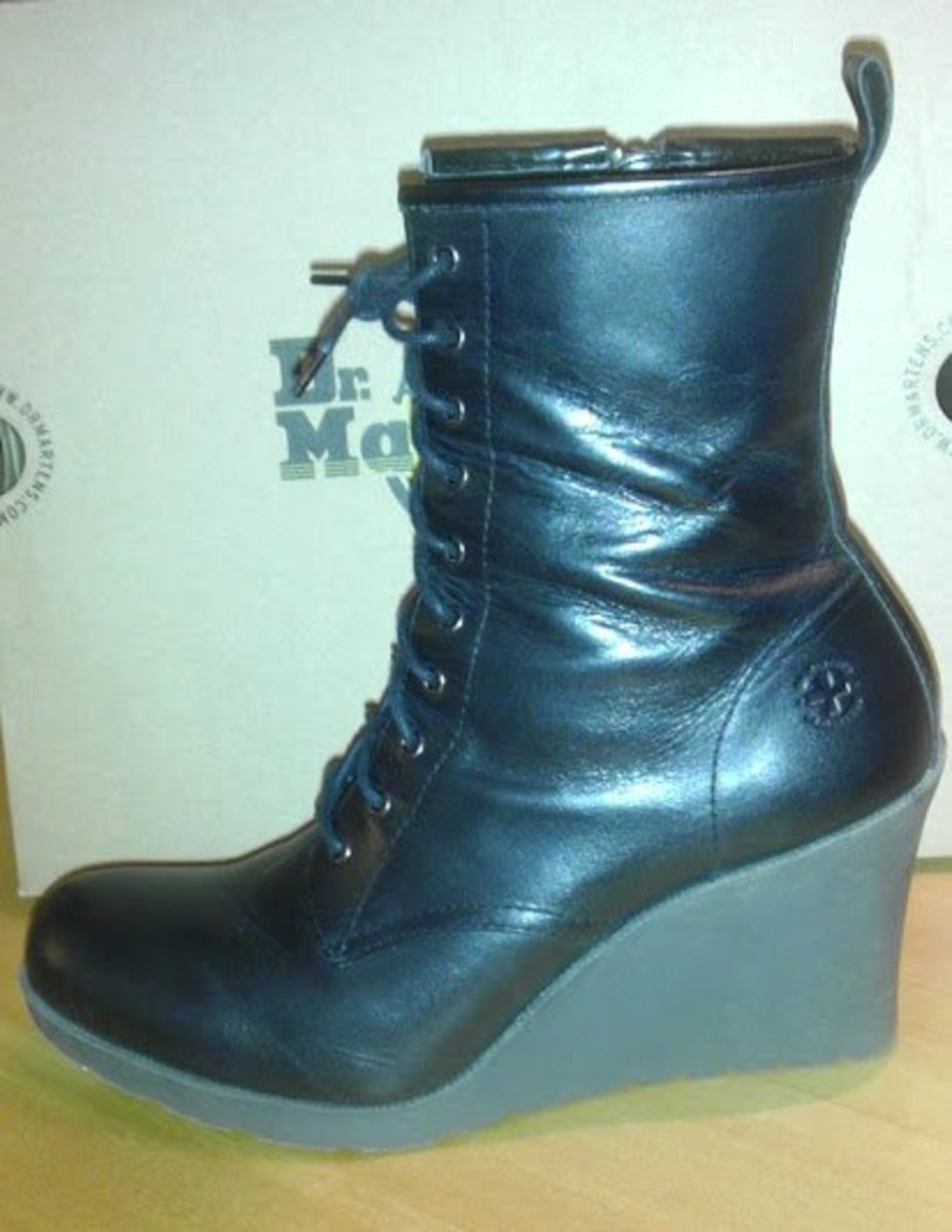 The Marcie boot may look more ladylike than the 1460s, but they are no shrinking violets either!