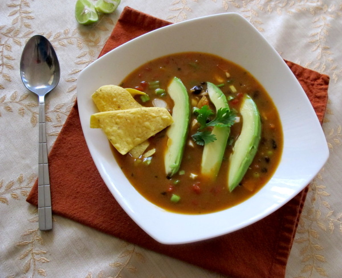 Homemade Mexican Tortilla Soup