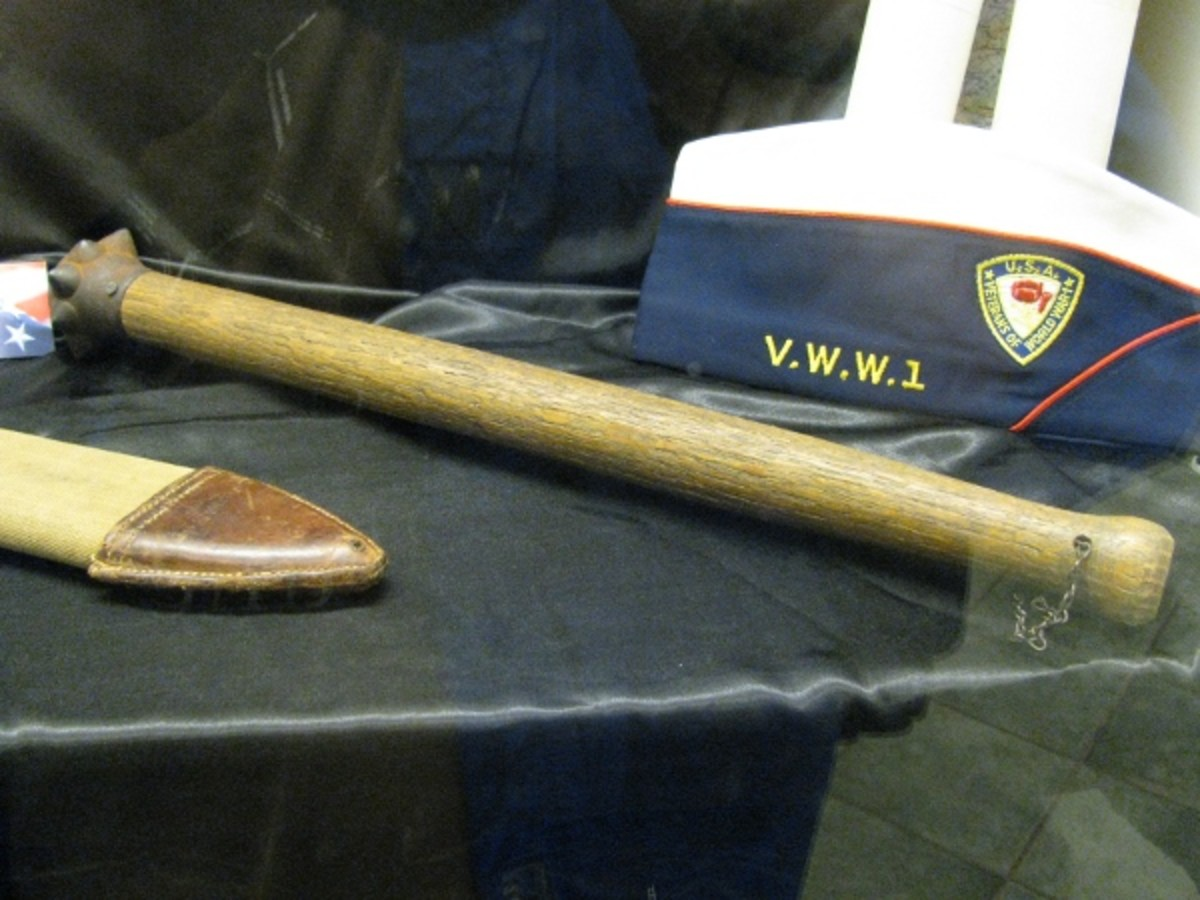 WW1 Trench Weapons:  The Club and the Knife