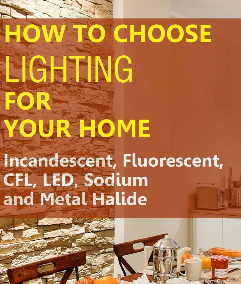 Types of Lighting for Your Home: LED, CFL, Fluorescent, Sodium, Halogen and Incandescent