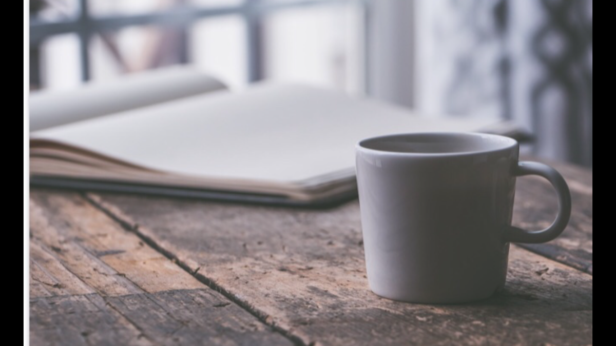 Cup with coffee or tea