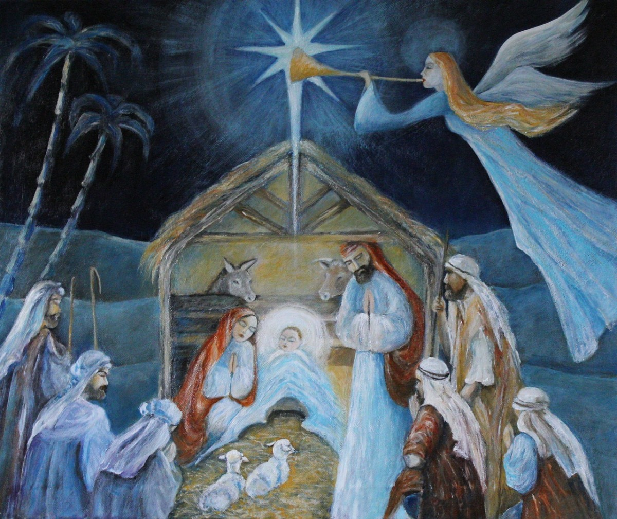 Shepherds at the birth of Christ