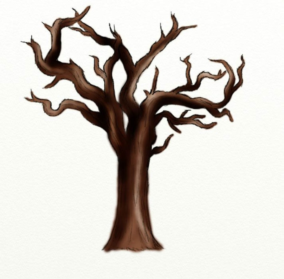 How to Draw a Dead Tree | FeltMagnet