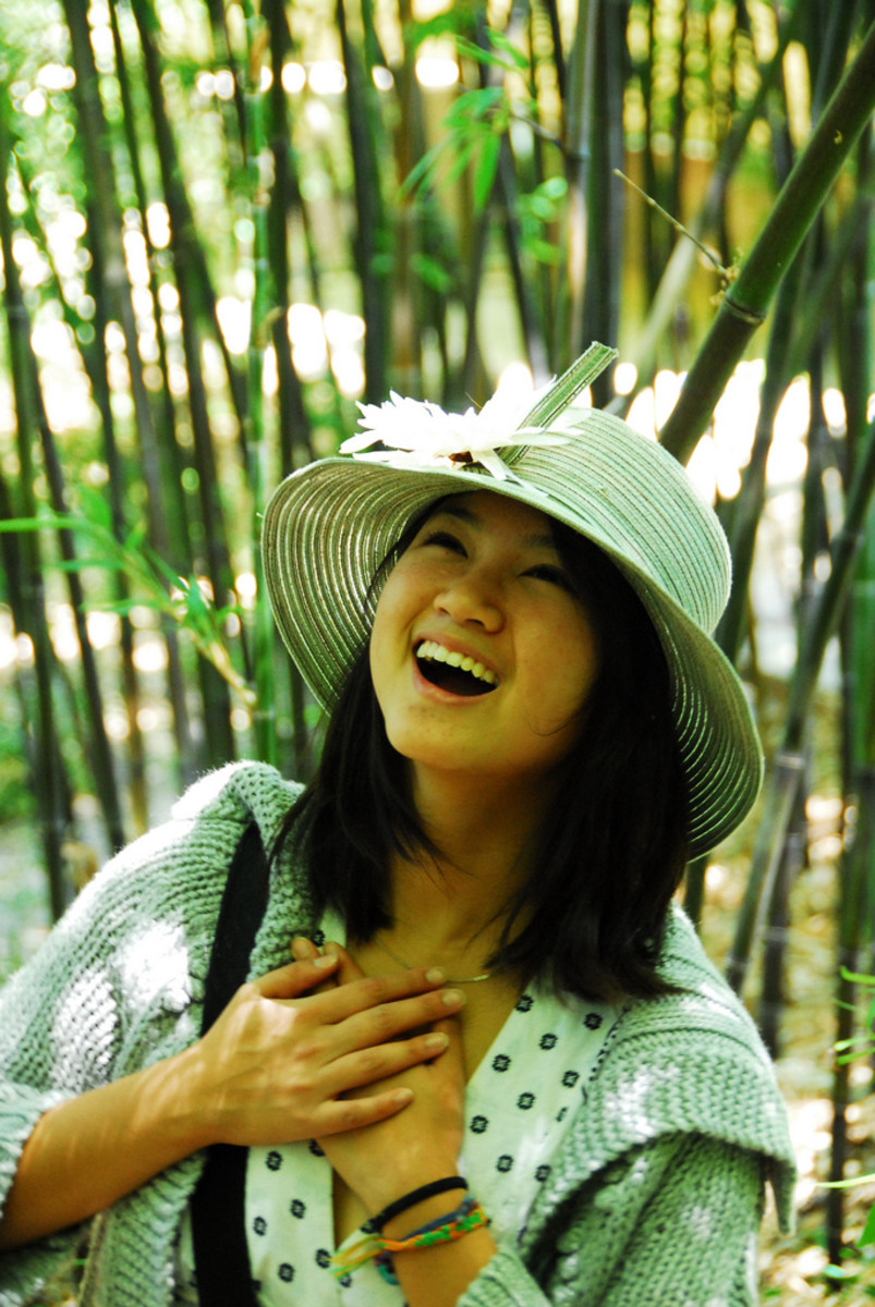 Girl with Genuine Smile