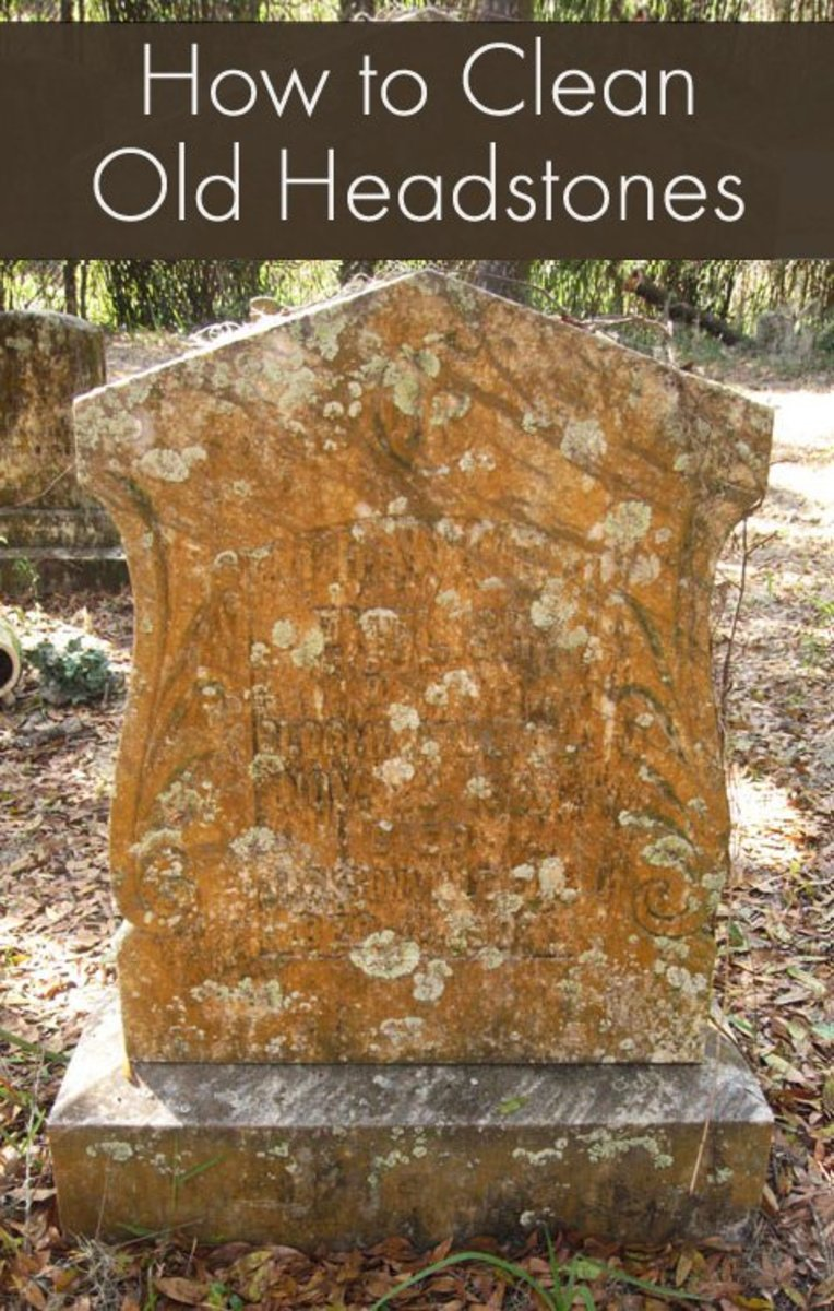How to Clean Old Headstones / Gravestones
