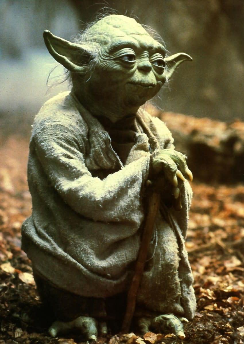 The iconic Jedi Master