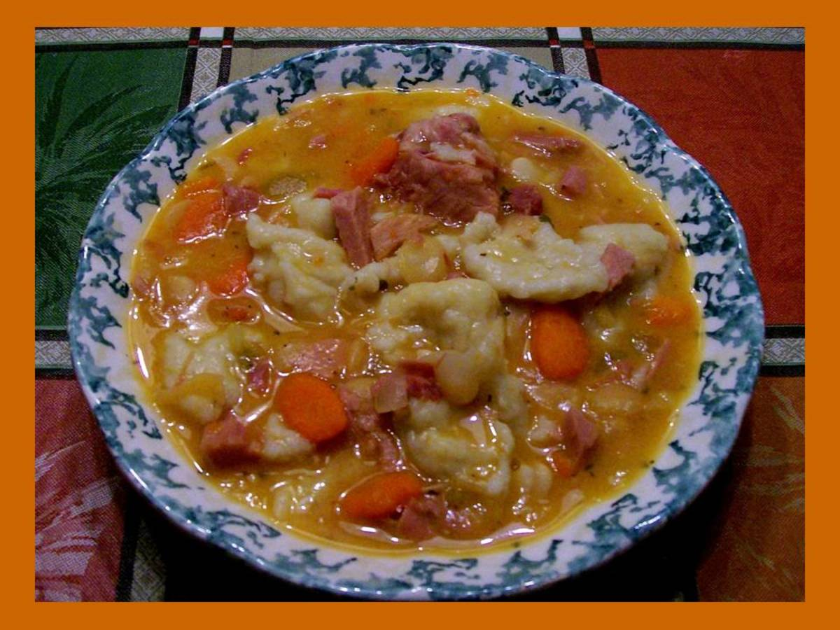 Ham and Bean Soup w/ Dumplings - Grandma's Fart Soup Recipe