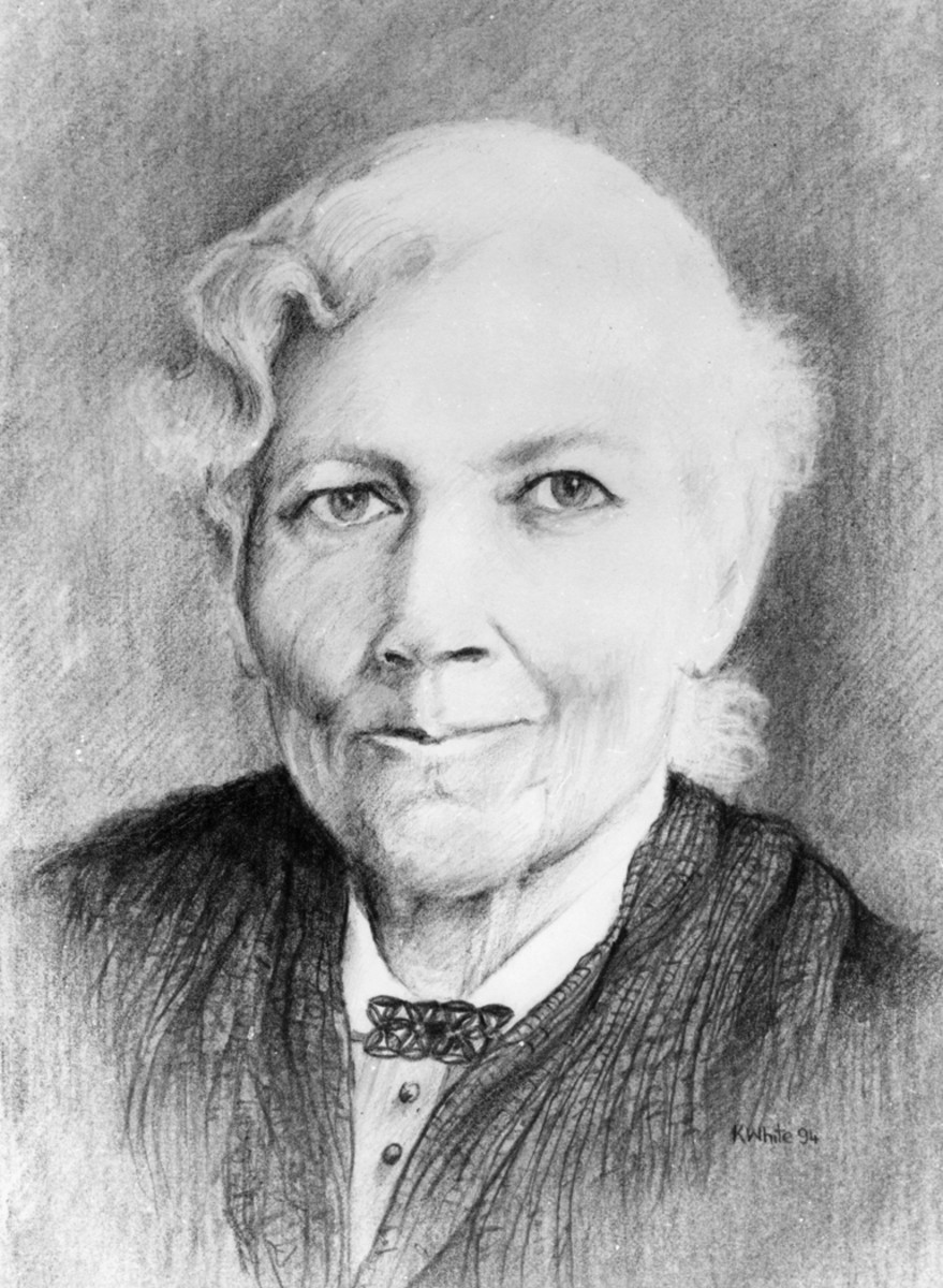 Pencil (graphite) drawing of Harriet Jacobs, based on famous photo of her that is owned by Harvard University. Drawing by artist Keith White of West Side Gallery and Studios.